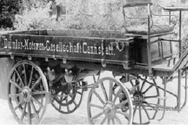 La revolución del transporte de 1896 por Gottlieb Daimler