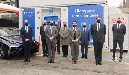 Primera estación de repostaje de hidrógeno en España para vehículos de pila de combustible